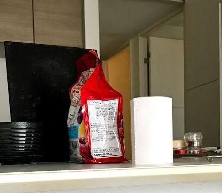 キッチンの上アップ