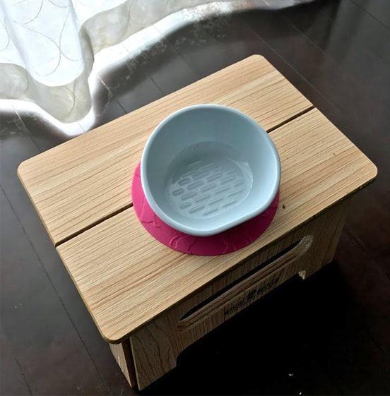 空の猫ゴハン皿