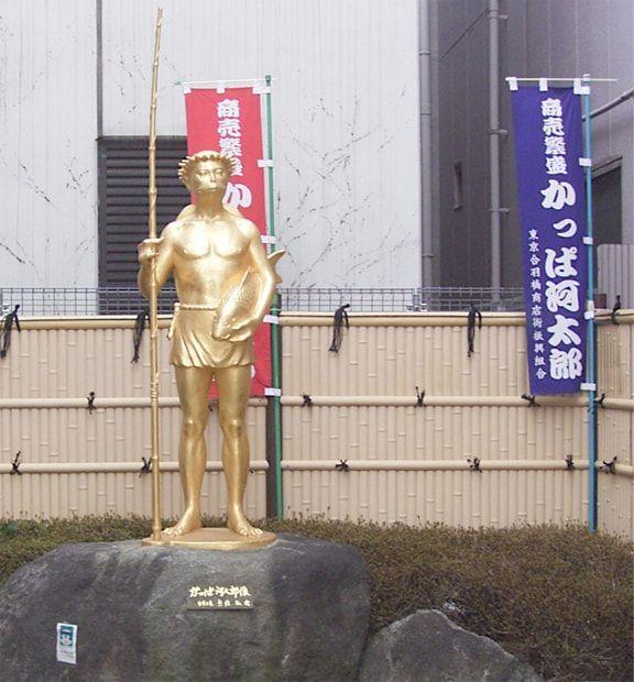 かっぱ橋にあるかっぱ河太郎像