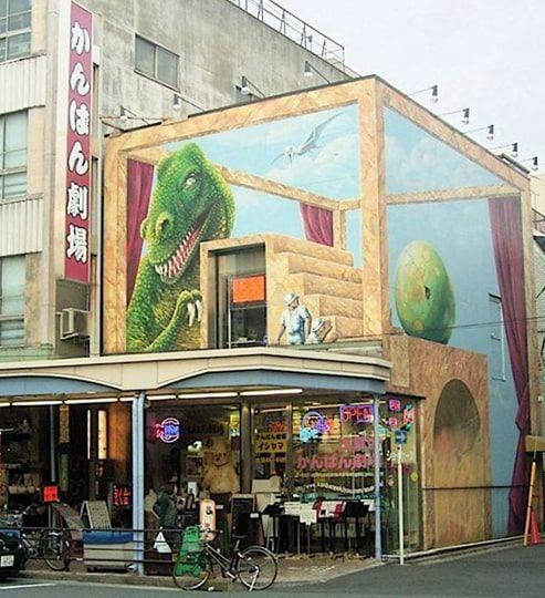 かっぱ橋道具街にある恐竜の看板