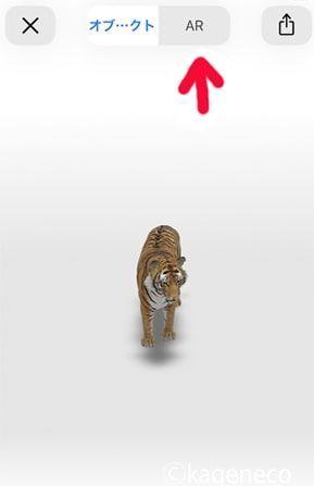GoogleARでトラを呼び出す手順