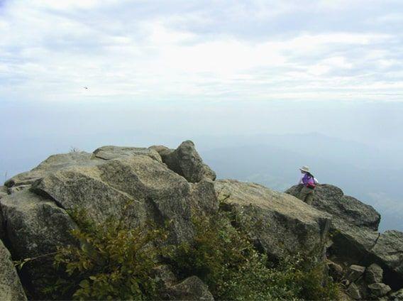女体山の山頂からの景色