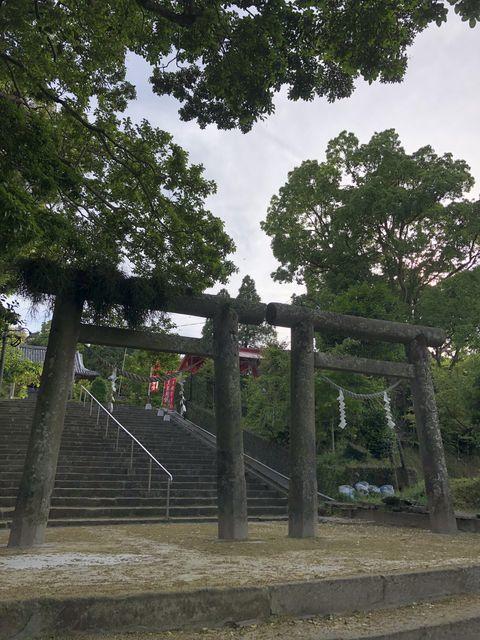 鹿児島御朱印神社南方神社枕崎市並列鳥居