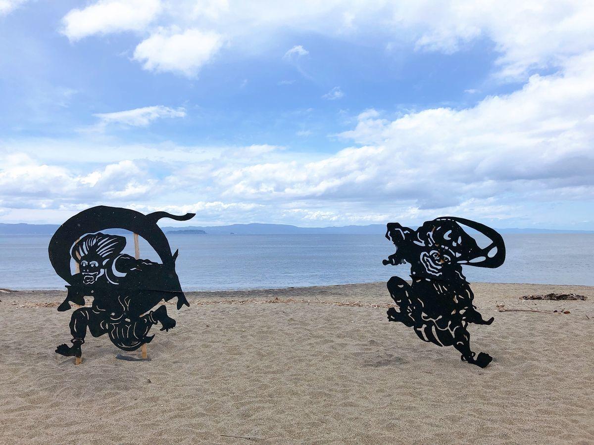 鹿児島道の駅巡りブログにしきの里錦江町神川海岸影絵アート