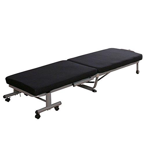 アイリスオーヤマ ベッド 折りたたみベッド コンパクト 14段階リクライニング ネイビー OTB-MN