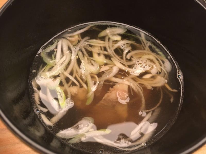 チャーシュー入りスープ