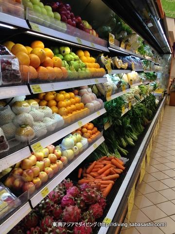 メナド市内のスーパーマーケット
