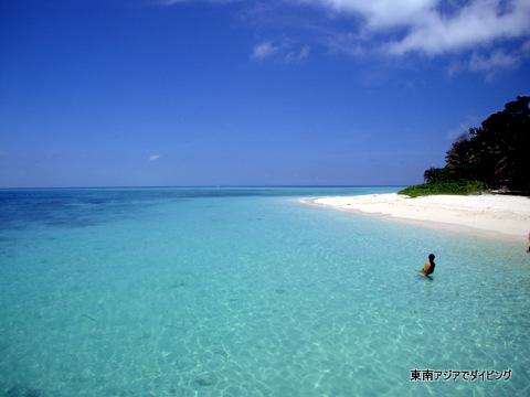 シパダンのビーチ、綺麗過ぎてヤバイ