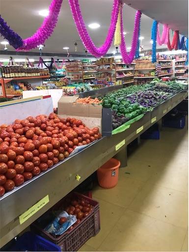 チェンナイスーパー野菜売場