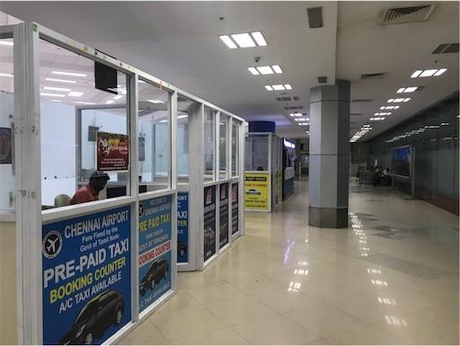 チェンナイ空港国際便プリペイドタクシー