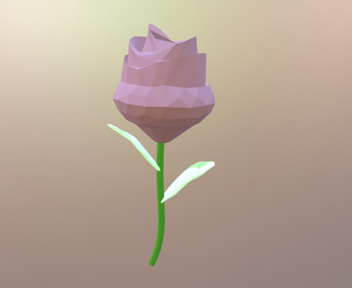 Blender お花 葉