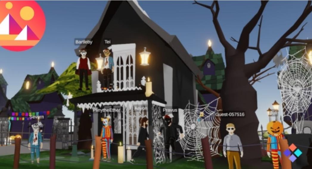 ハロウィーン VR 仮想世界