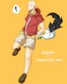 ボーボボ+ワンパンマン/サイタマ(カツの衣装)とポチ