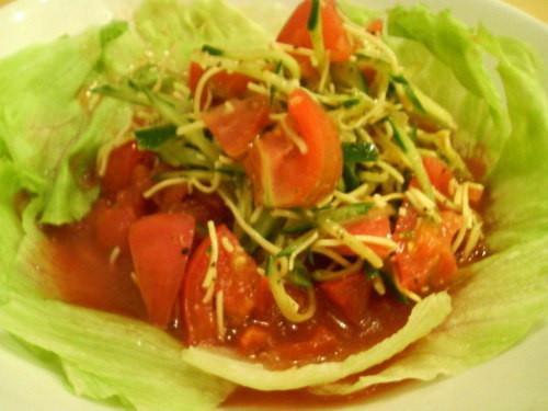 ラーメン一(はじめ)の米粉トマト麺01[ときめきラーメン万代島]