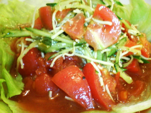 ラーメン一(はじめ)の米粉トマト麺02[ときめきラーメン万代島]