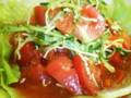 [新潟のおしいいもの]ラーメン一(はじめ)の米粉トマト麺02[ときめきラーメン万代島]