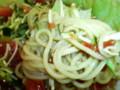 [新潟のおしいいもの]ラーメン一(はじめ)の米粉トマト麺03[ときめきラーメン万代島]