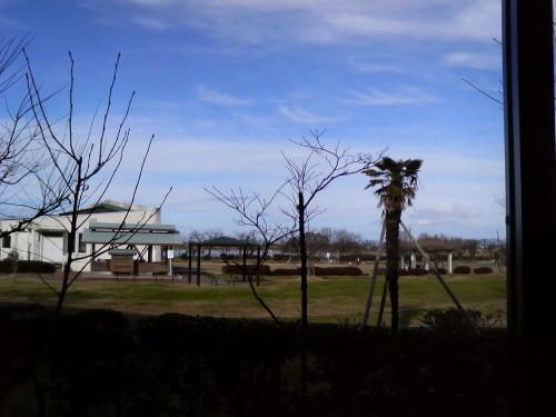 リズム・ハウス瓢湖(阿賀野市)から瓢湖を望む