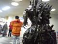 パインリッジリゾート神立(湯沢町)の建物内にある怪獣オブジェ