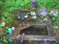 滝神社の清水(関川村)-新・新潟県の名水01