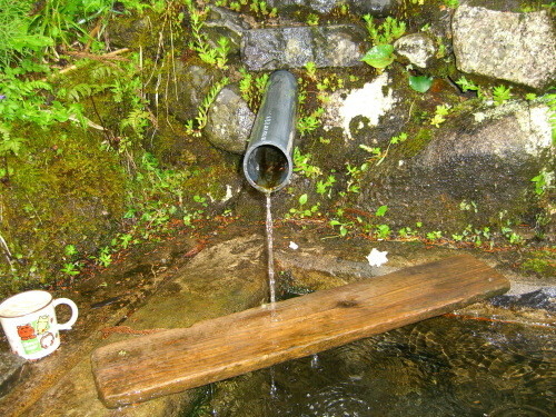 滝神社の清水(関川村)-新・新潟県の名水04