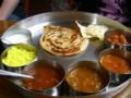 新潟のインド料理店『ナタラジャ』の南インドのミールス