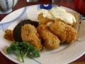 とんかつぽるく(新潟市西区)のカキフライ定食201101-02