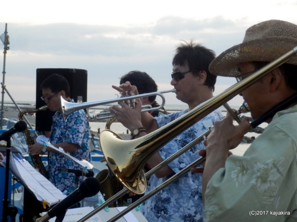 CAN$JAZZ BAND★海の日夕焼け2017 Jazz Live【関屋浜・静浜亭】