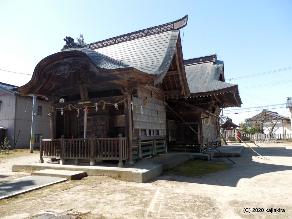 須佐之男神社(新発田市天王)で疫病除け祈願