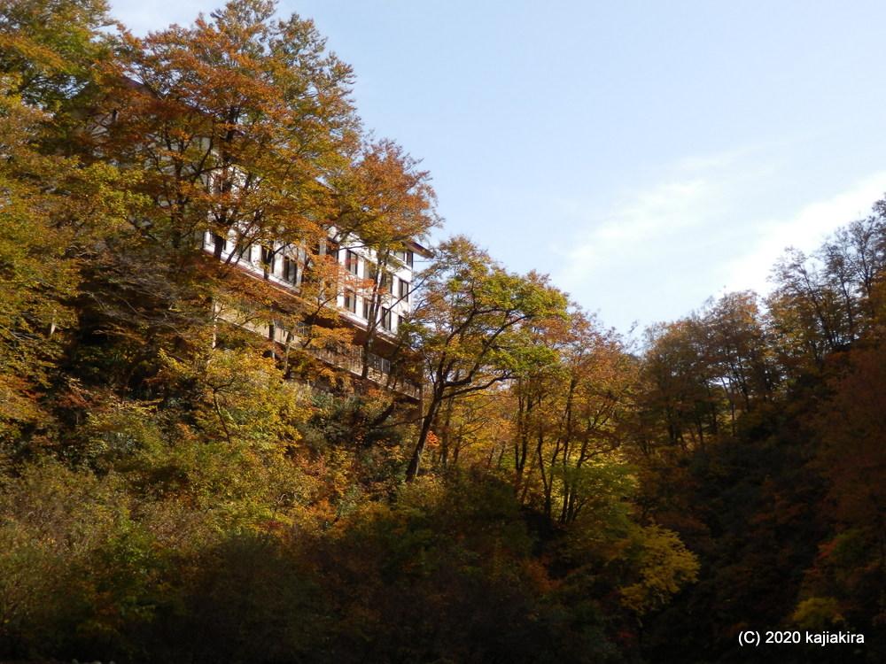 胎内市下荒沢「奥胎内ヒュッテ」付近の紅葉散策、そして「大蔵神社」