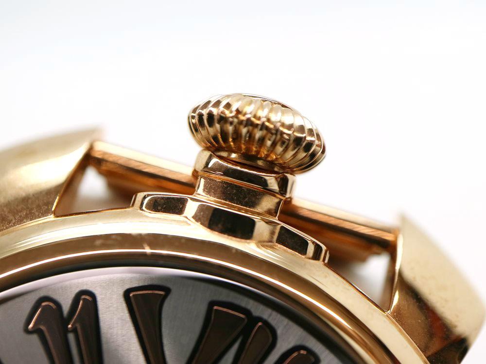 ガガミラノの時計のリューズ
