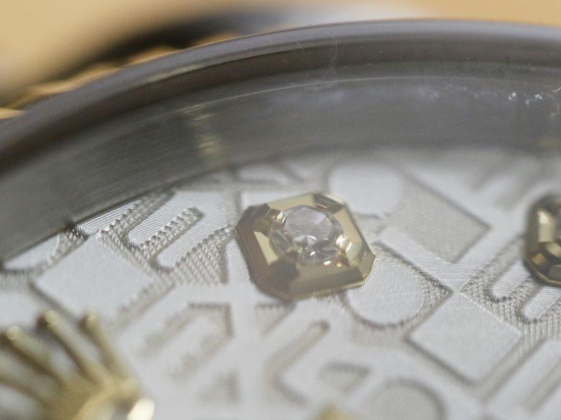 ロレックスのデイトジャストダイヤモンドの新型留め