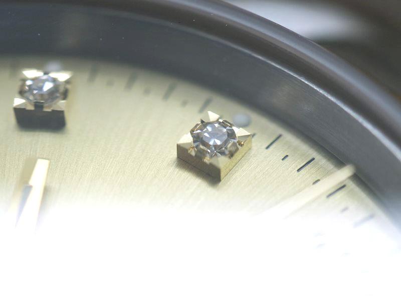 ロレックスのデイトジャストダイヤモンドの旧型留め