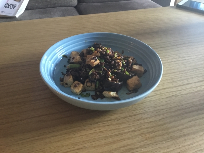麻婆豆腐完成