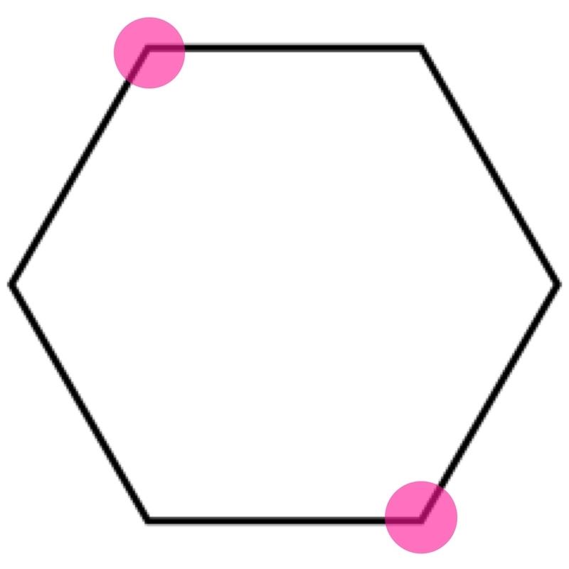 六角形の角