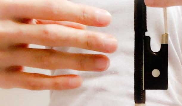 弓の上で小指を丸く2 東京・中野・練馬・江古田・ヴァイオリン・ヴィオラ・音楽教室