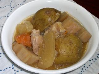 大根根菜の味噌汁