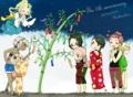 W2軍パーティの皆 +とわ /ジラーチ(♀)