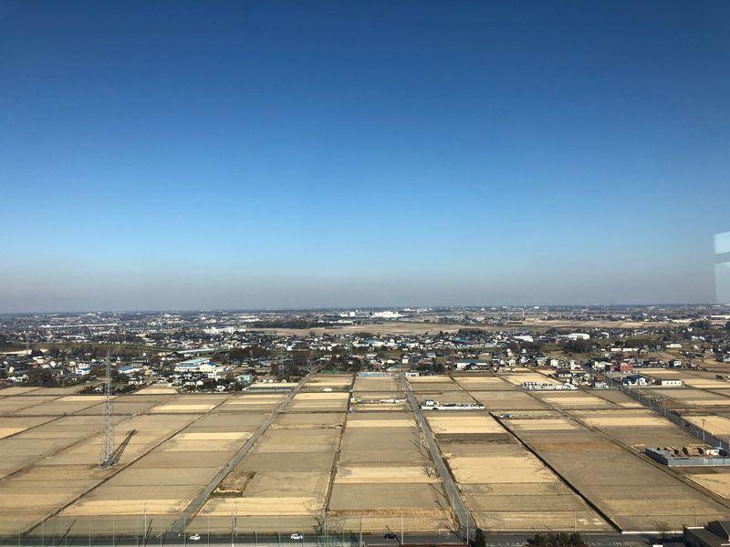 展望台からの眺め(関東平野の田んぼ)