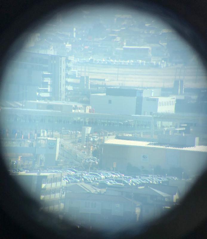 望遠鏡から見た越谷レイクタウン