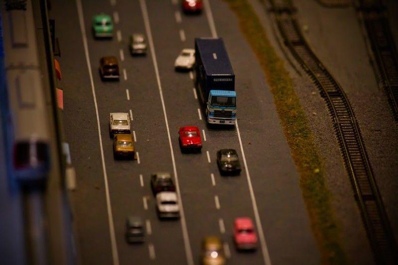 模型の道路