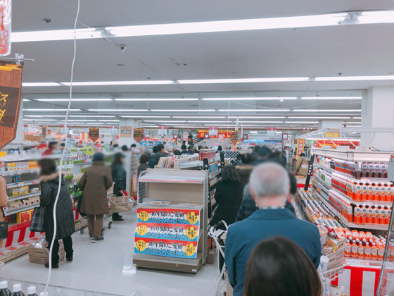 1階食品売り場の店内状況-7