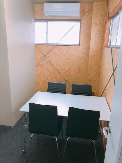 会議室:3,000円(3時間、2名以上6名まで)