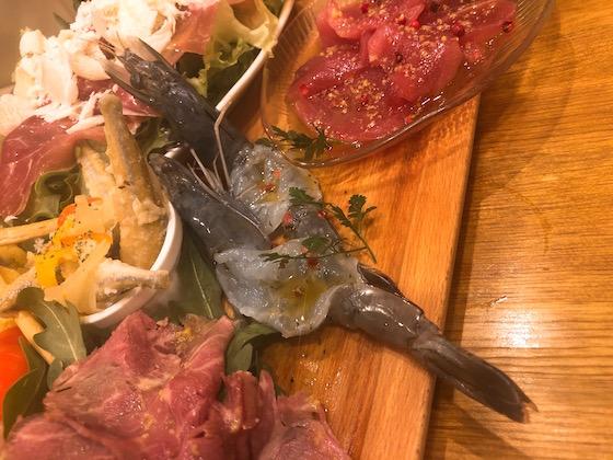『天使の海老』のカルパッチョ