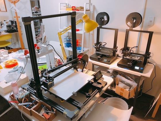 大きなサイズを作れる3Dプリンターは迫力抜群!