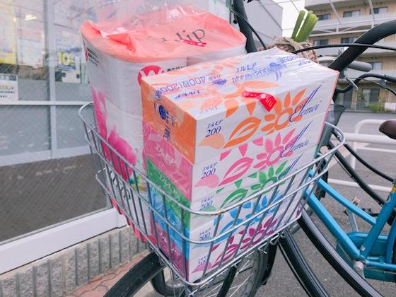 自転車のカゴ