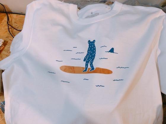 リッケンさんのワークショップで制作したTシャツ
