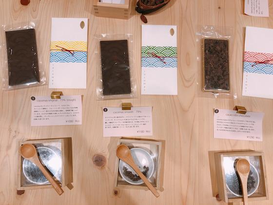 普段口にする商品とは一線を画すcocomasのチョコレート