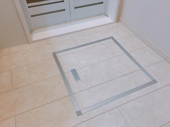 床の点検口