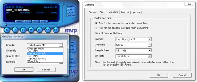 MVP QDesign encoding settings